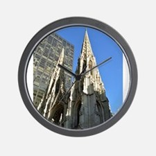St. Patricks Cathedral Spires Wall Clock