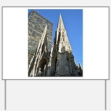 St. Patricks Cathedral Spires Yard Sign