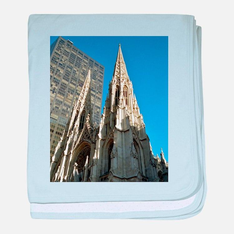 St. Patricks Cathedral Spires baby blanket
