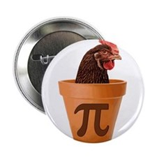 "Chicken Pot Pi (and I dont care) 2.25"" Button"