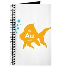 Periodic Table Elemental Gold Fish Journal
