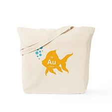 Periodic Table Elemental Gold Fish Tote Bag