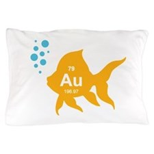Periodic Table Elemental Gold Fish Pillow Case