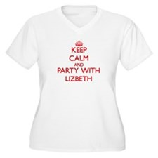 Keep Calm and Party with Lizbeth Plus Size T-Shirt