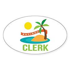 Retired Clerk Decal