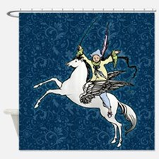 Pegasus Flying Horse Fantasy Shower Curtain