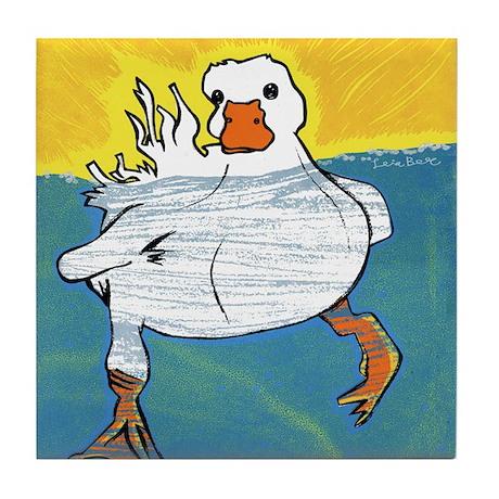Swimming Duck Tile Coaster