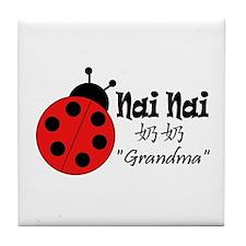 Nai Nai Ladybug Tile Coaster