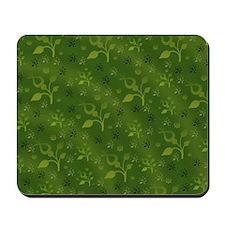 Green floral mix Mousepad