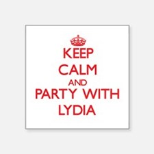 Keep Calm and Party with Lydia Sticker