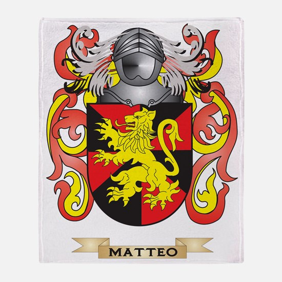 Matteo Coat of Arms - Family Crest Throw Blanket