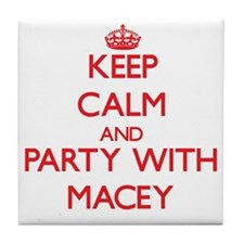 Keep Calm and Party with Macey Tile Coaster