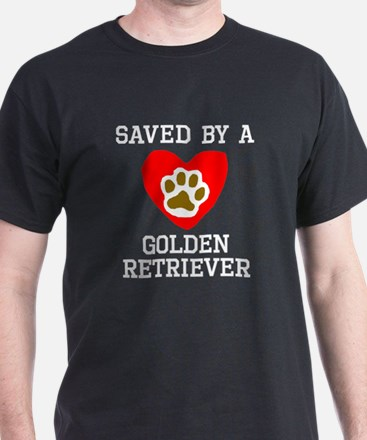 Saved By A Golden Retriever T-Shirt
