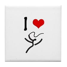 I love Rhythmic Gymnastics! Tile Coaster
