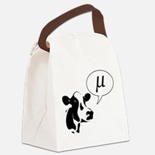 Scientific Cow Goes Mu Canvas Lunch Bag