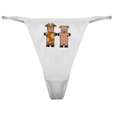 COW AND PIG Classic Thong