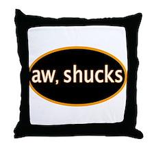 Aw, shucks Throw Pillow