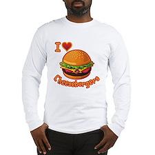 I Love Cheeseburger Long Sleeve T-Shirt