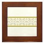 Queen Of Hearts Crown Tiara Pattern Framed Tile