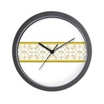 Queen Of Hearts Crown Tiara Pattern Wall Clock