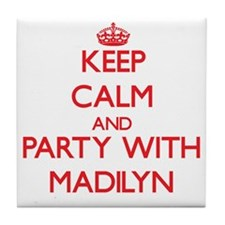 Keep Calm and Party with Madilyn Tile Coaster