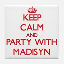 Keep Calm and Party with Madisyn Tile Coaster