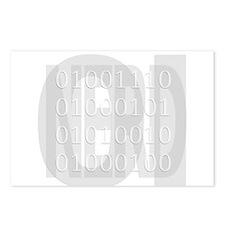 NERD in binary Postcards (Package of 8)