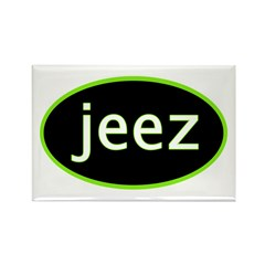 Jeez Rectangle Magnet (100 pack)