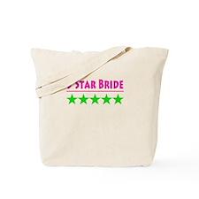 5 Star Bride Pink and Green Tote Bag