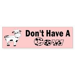 Cow Bumper Bumper Sticker
