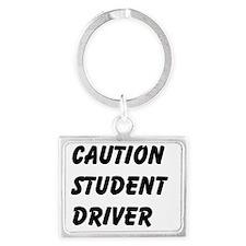 Caution Student Driver Landscape Keychain