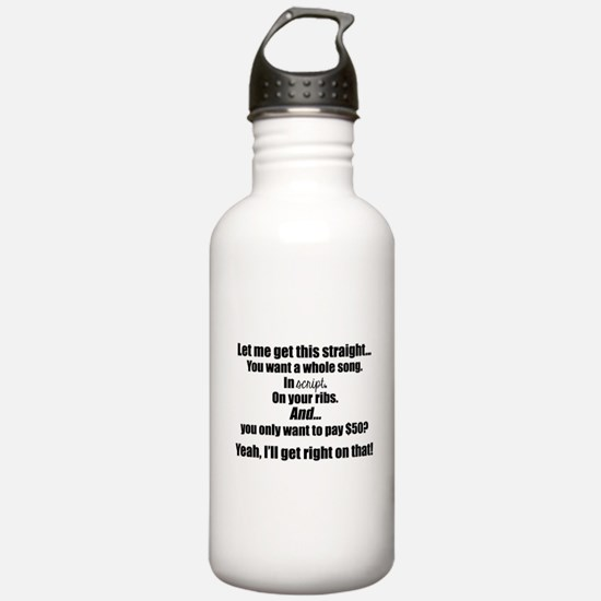 Let me get this straight (black font) Water Bottle