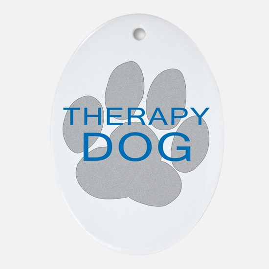 Therapy Dog Ornament (Oval)