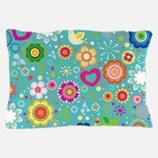 Flowered Retro Gift Pillow Case