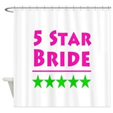 5 Star Bride Pink Green Middle Shower Curtain