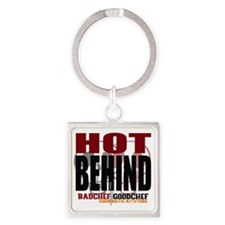 Hot Behind Square Keychain