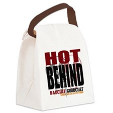 Hot Behind Canvas Lunch Bag