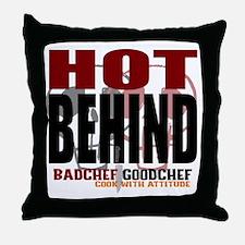 Hot Behind Throw Pillow