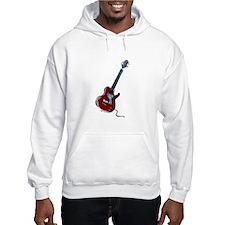 guitar single cutaway music design red Hoodie