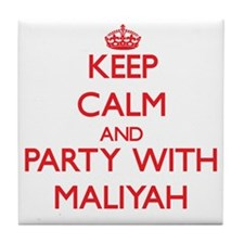 Keep Calm and Party with Maliyah Tile Coaster
