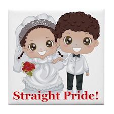 Straight Pride Tile Coaster