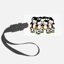 Soccer Penguins Luggage Tag