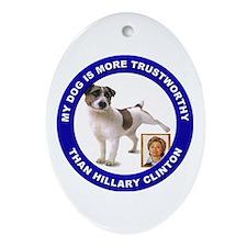 Anti Hillary Clinton Oval Ornament