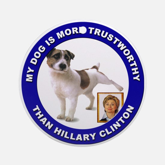 Anti Hillary Clinton Ornament (Round)