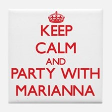 Keep Calm and Party with Marianna Tile Coaster