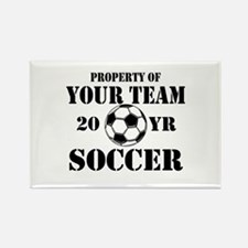Personalized Property of Your Team Soccer Magnets
