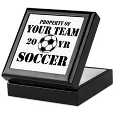 Personalized Property of Your Team Soccer Keepsake