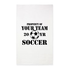 Personalized Property of Your Team Soccer 3'x5' Ar