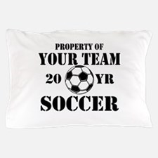 Personalized Property of Your Team Soccer Pillow C