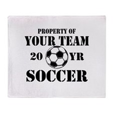Personalized Property of Your Team Soccer Throw Bl